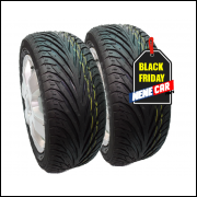 kit2 pneus 195/50R15 remold fox fiesta civic 206 - am plus